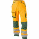CHICAGO Pantalon de travail haute visibilité multipoche orange vert