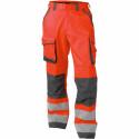 CHICAGO Pantalon de travail haute visibilité multipoche rouge gris