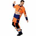 ROADY Pantalon de travail haute visibilité multipoche orange marine