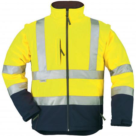 STATION veste de travail haute visibilité softshell manches amovibles