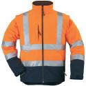 STATION Veste de travail chaude softshell manches amovibles haute visibilité orange marine