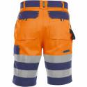 VENNA Short de travail haute visibilité polycoton orange marine
