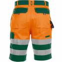 VENNA Short de travail haute visibilité polycoton orange vert