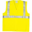 YARD Gilet de travail polyester avec bandes rétro réfléchissantes jaune