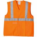 YARD Gilet de travail polyester avec bandes rétro réfléchissantes orange
