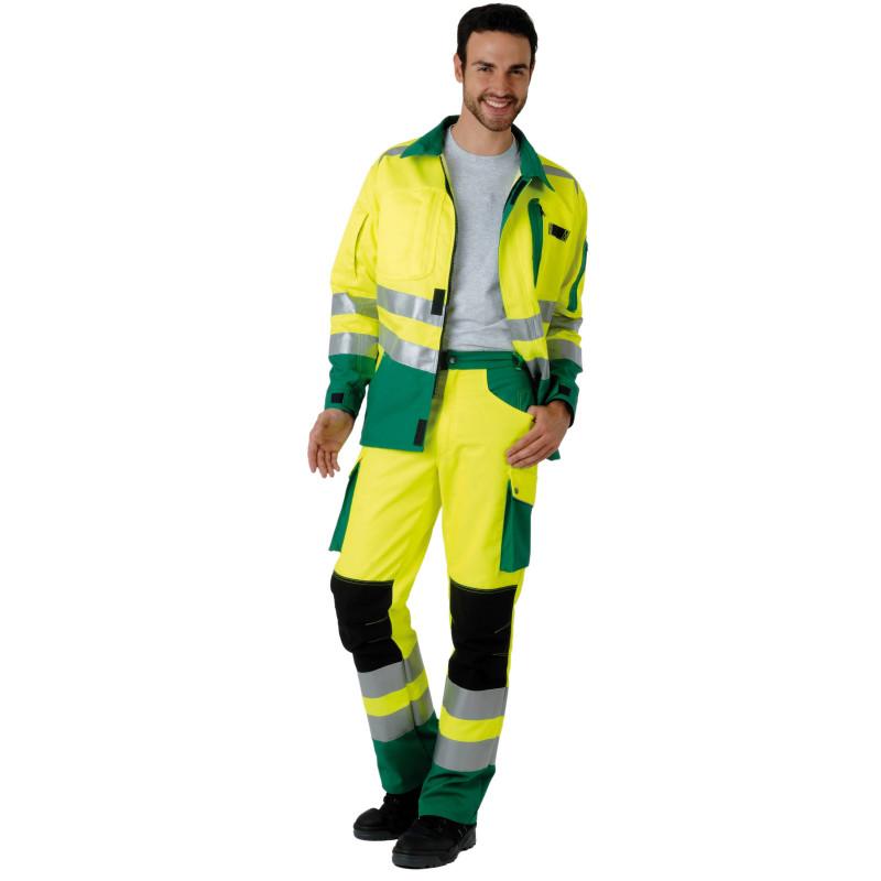 ROADY Veste de travail haute visibilité polycoton jaune vert