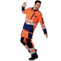 ROADY Veste de travail haute visibilité polycoton orange marine
