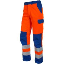 FLUOPRO Pantalon de travail homme haute visibilté ceinture élastiquée