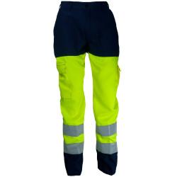 VISION 2 Pantalon haute visibilité polycoton marine jaune