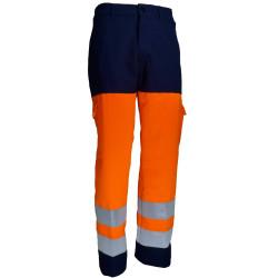 VISION 2 Pantalon haute visibilité polycoton marine orange