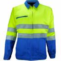VISION 2 Veste de travail haute visibilité polycoton bleu jaune