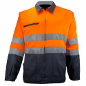 VISION 2 Veste de travail haute visibilité polycoton gris orange