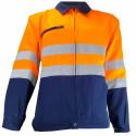 VISION 2 Veste de travail haute visibilité polycoton marine orange