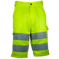 VISION 2 Bermuda de travail haute visibilité polycoton jaune