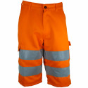 VISION 2 Bermuda de travail haute visibilité polycoton orange