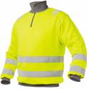DENVER Sweat shirt de travail haute visibilité polycoton jaune gris