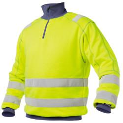 DENVER Sweat shirt de travail haute visibilité polycoton jaune marine