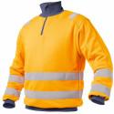 DENVER Sweat shirt de travail haute visibilité polycoton orange marine
