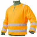DENVER Sweat shirt de travail haute visibilité polycoton orange vert