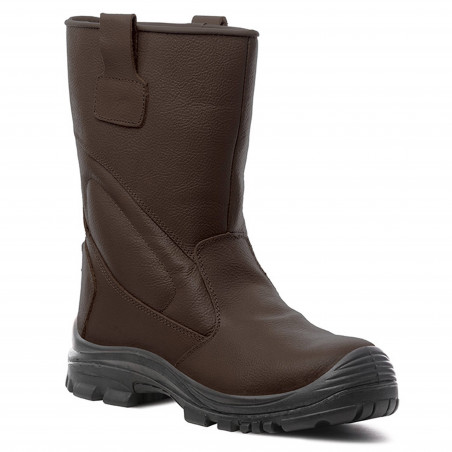 PIEMONTITE bottes de sécurité fourrées cuir de buffle S3