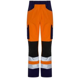 ROADY Pantalon de travail haute visibilité multipoches