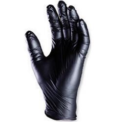 Gants nitrile noir 24 cm NON poudrés