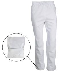 Pantalon de cuisine taille élastique GRAHAM Blanc