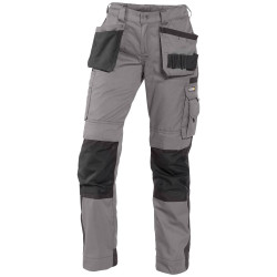 SEATTLE Pantalon multipoches femme bicolore gris noir