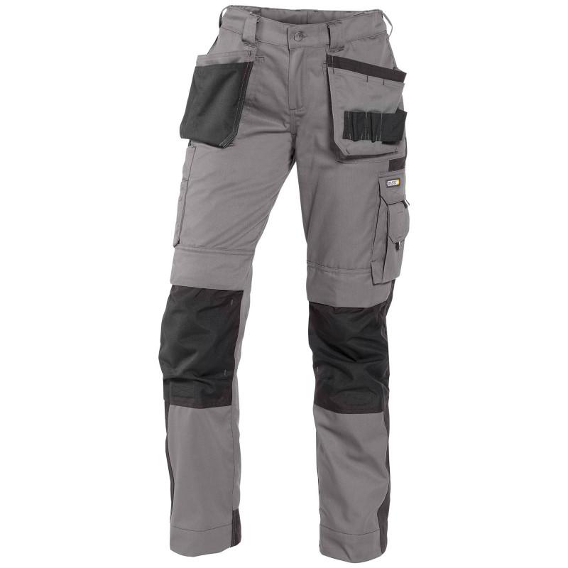 SEATTLE Pantalon multipoches femme bicolore gris noir