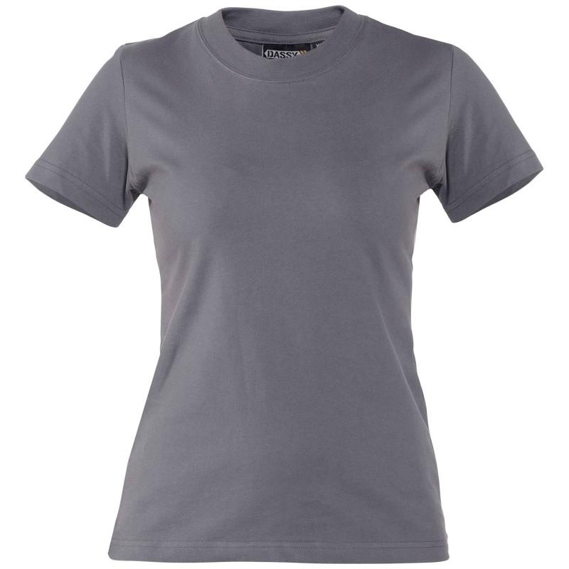 OSCAR WOMEN T-shirt de travail femme indéformable gris
