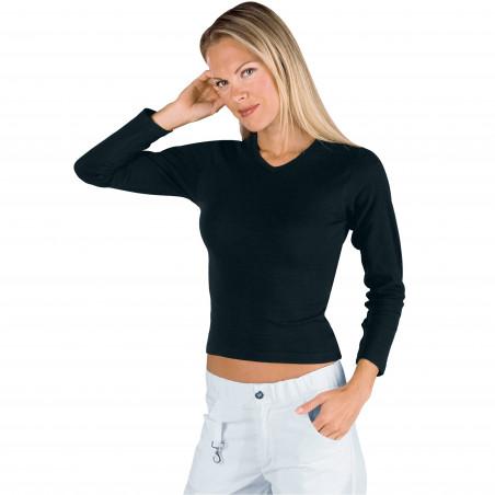 SPANDEX T-shirt de travail femme manches longues