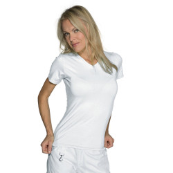 SPANDEX T-shirt de travail femme manches courtes
