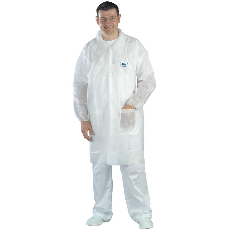 SOK Blouses de travail jetables blanches (carton de 50)