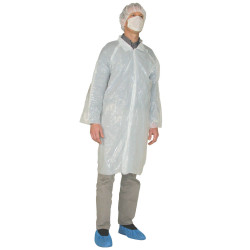EMY Blouses visiteurs jetables en polyéthylène