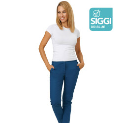 TAMARA Pantalon medical femme taille elastique marine