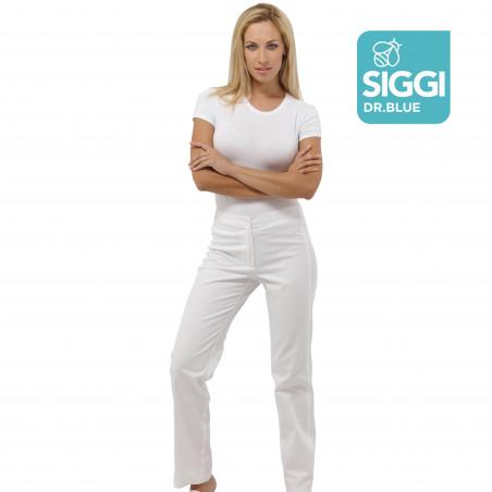 SUN pantalon blanc hopital 100% Coton