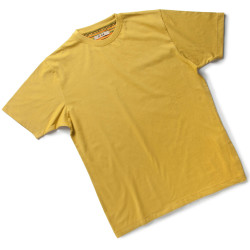 TAKE Tee Shirt de travail 100% coton jaune