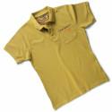 POKER Polo de travail homme 100% coton jaune