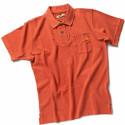 POKER Polo de travail homme 100% coton rouge