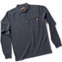 POST Polo de travail manches longues 100% coton marine