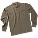 POST Polo de travail manches longues 100% coton marron