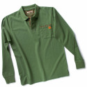 POST Polo de travail manches longues 100% coton vert