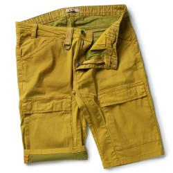 PADDOK Short de travail coton élasthanne jaune