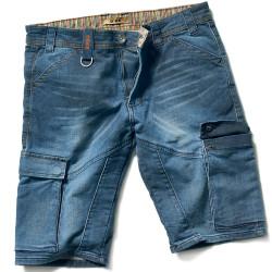PICNIC Short de travail en jean bleu