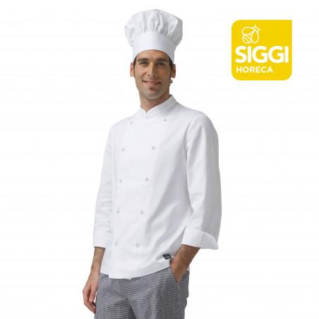 ARTUR veste de cuisine homme manche longue coton