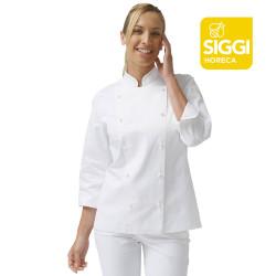 EMMA Veste de cuisine femme manches longues 100%  coton