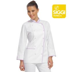 KIKO Veste de cuisine femme manches longues 100% coton
