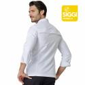 SEBASTIAN Veste de cuisine homme manches longues polyester blanc