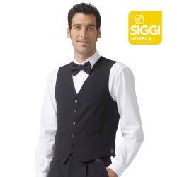 STEFANO Gilet de serveur polyester noir