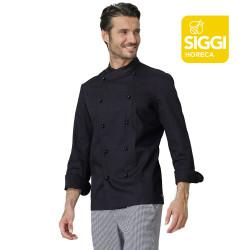 GIACOMO Veste de cuisine homme manches longues 100% coton